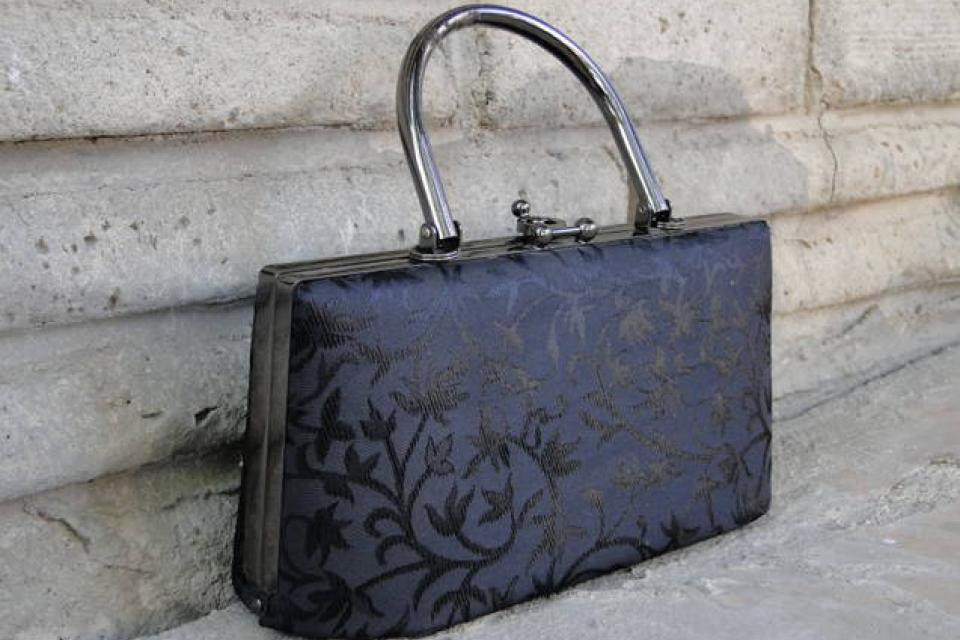 Little Black Evening Purse Large Photo