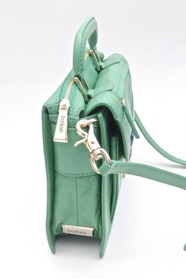 Botkier Structured Green Leather Satchel Large Photo