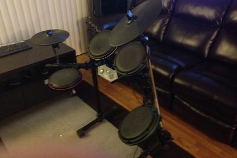 Ultimate Rock Band Setup For Xbox 360 Photo