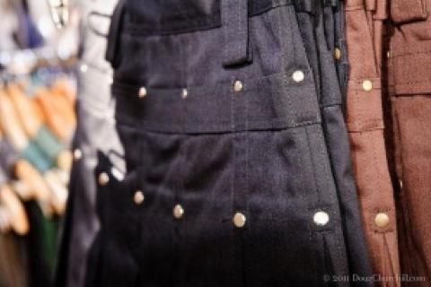 Dark Brown Kilt with Black Rivets Photo