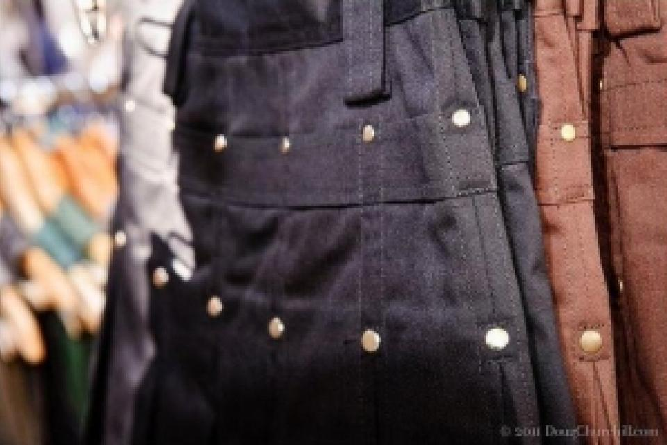 Dark Brown Kilt with Black Rivets Large Photo