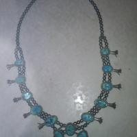 Navajo Indian Turquoise Squash Blossom Necklace Photo