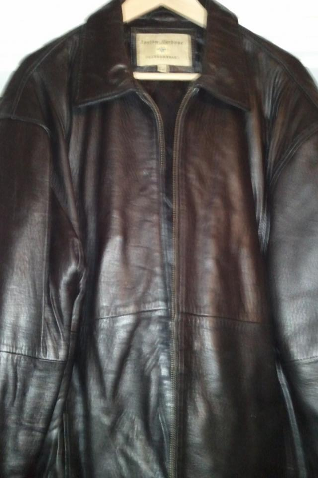 Boston Harbour Mens Leather Jacket Lg. Photo
