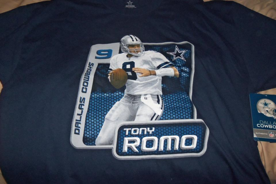 Dallas Cowboys Tony Romo Tshirt Size L Free Ship Large Photo