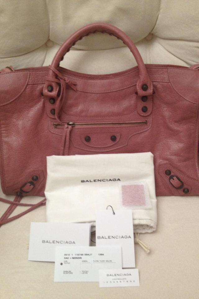 Authentic Balenciaga City Rose Bruyere Photo