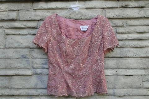 Mauve Rose Pattern Dressy Top Photo