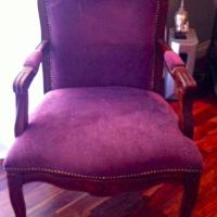 Purple Royalty Accent Chair Photo