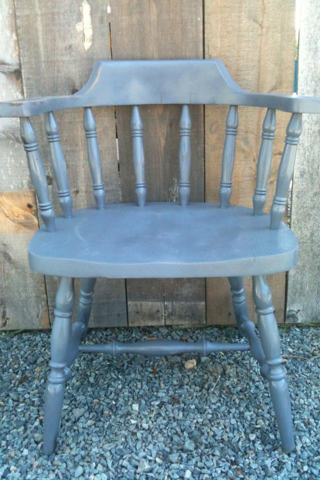 Old grey pub chair Photo