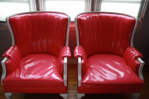 Pink Patent Leather Chairs  Photo