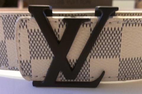 White Louis Vuitton Belt Photo