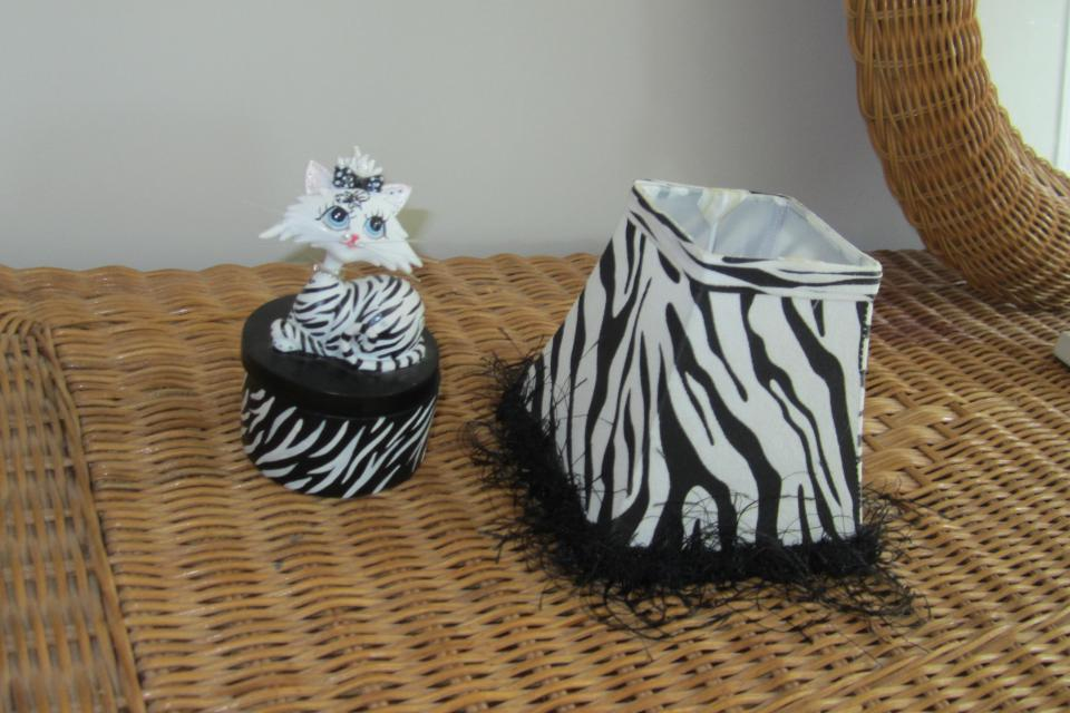 Cute Zebra trinket case and lamp shade Large Photo