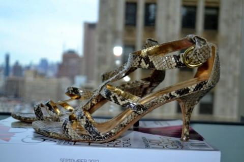 Coach Snakeskin strappy sandals Photo