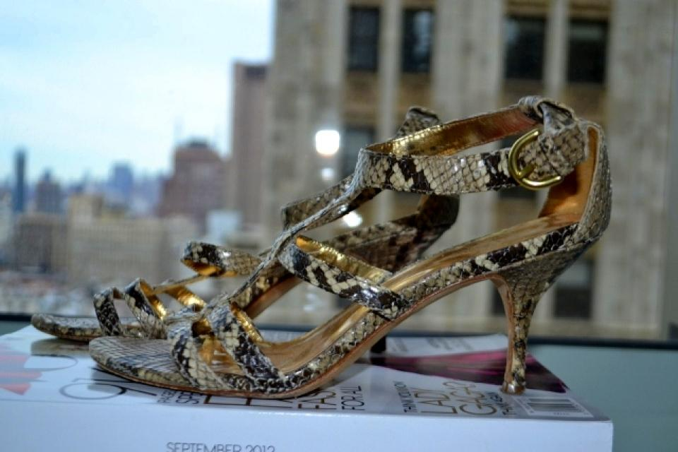 Coach Snakeskin strappy sandals Large Photo