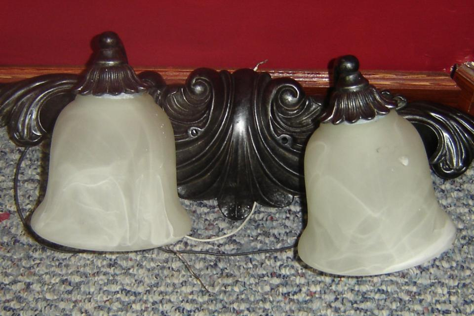 wall double light fixture Large Photo