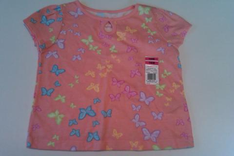 NEW Infant Girl's Pink Butterfly Tee by Garanimals Sz. 18 Mos Photo