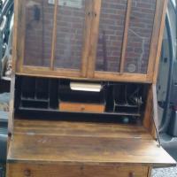Vintage Credenza, desk, shelves, drawers, computer desk, cabinet Photo