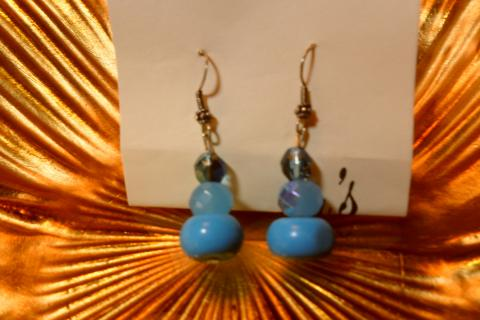 New torquoise and agate earrings Photo