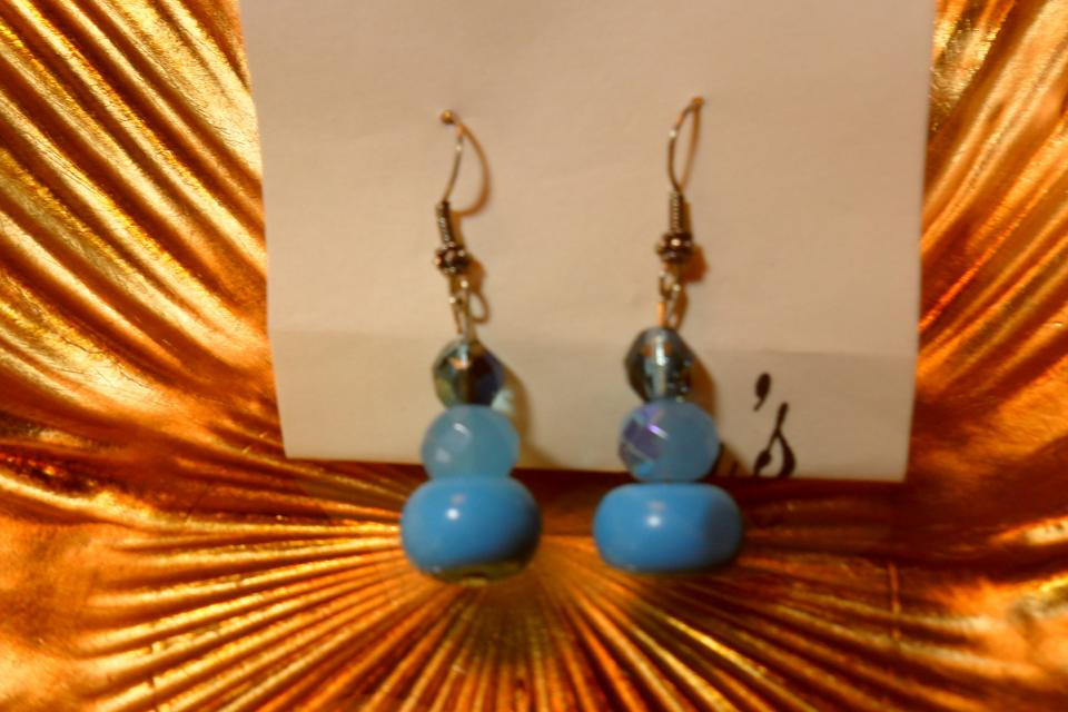 New torquoise and agate earrings Large Photo