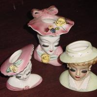 3 VINTAGE HEAD VASES  VINTAGE LUCY Photo