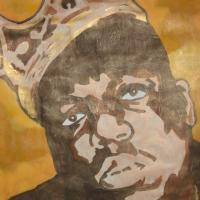 "Painting ""Notorious BIGGIE"" Photo"