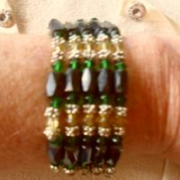 2 Crystal magnetic  wrap bracelets Photo