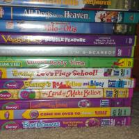 A Great Lot of 13 Toddler a Kids DVD's Photo
