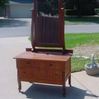 CIVIL WAR DRESSING MIRROR CHEST WASHSTAND Photo