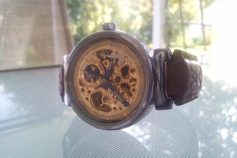 NEW LOUIS VUITTON UNISEX SKELETON WATCH Photo