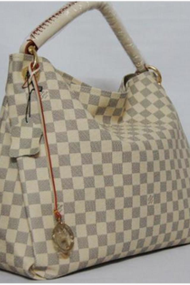 NEW Louis Vuitton Azur White Galleria Handbag Purse Tote Bag LV Photo