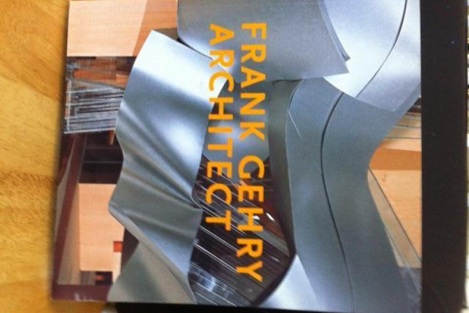 Architect, Frank Gehry, signed oversize paperback book.  Large Photo