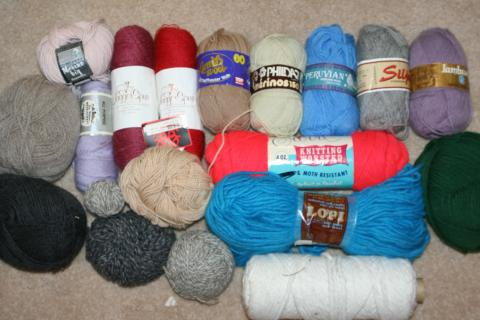 VINTAGE * HUGE NEW Lot 100% WOOL Knitting Lambs Phildar SILJA Peruvian COOL YARN Photo