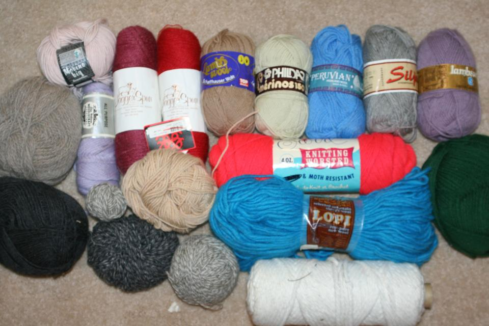 VINTAGE * HUGE NEW Lot 100% WOOL Knitting Lambs Phildar SILJA Peruvian COOL YARN Large Photo