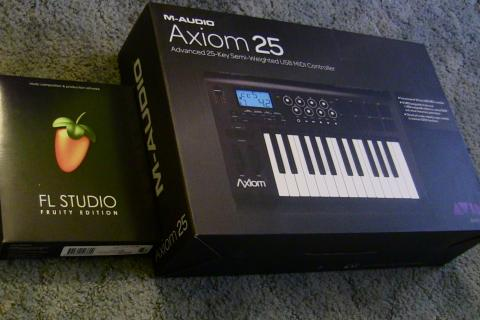 Axiom 25 MIDI and FL Studio 10 Photo
