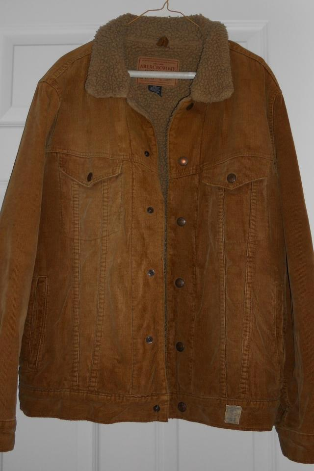 Men's Abercrombie & Fitch Brown Corduroy Jacket Sz M Large Photo