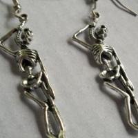 Hanging Skeleton Earrings Free Ship Photo