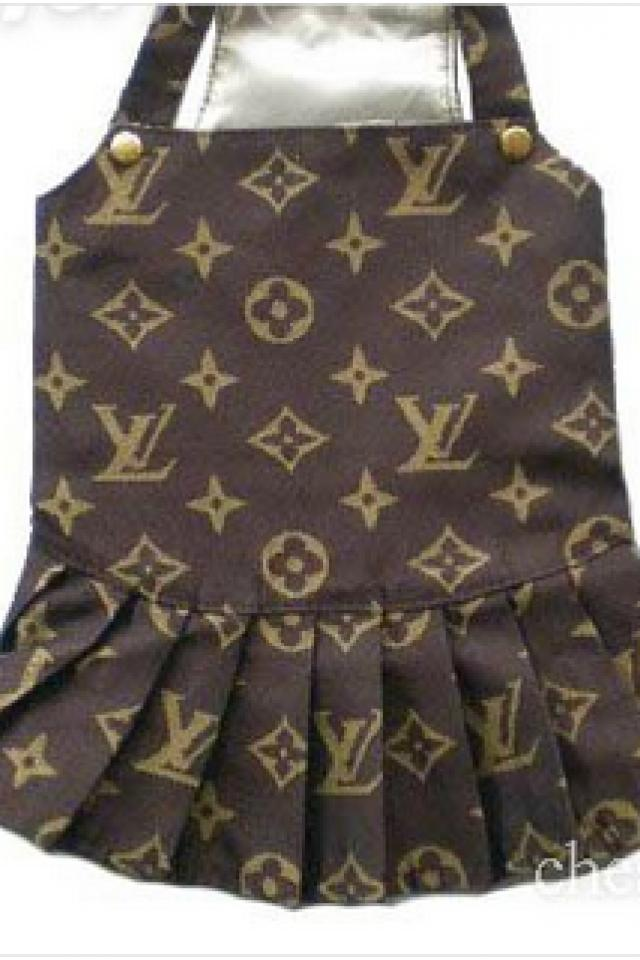 Louis Vuitton Monogram Dog Jacket Clothes Pet Dress Photo