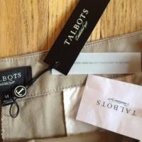 Brand new - tags still on.  Talbot's slacks, size 14.   Photo