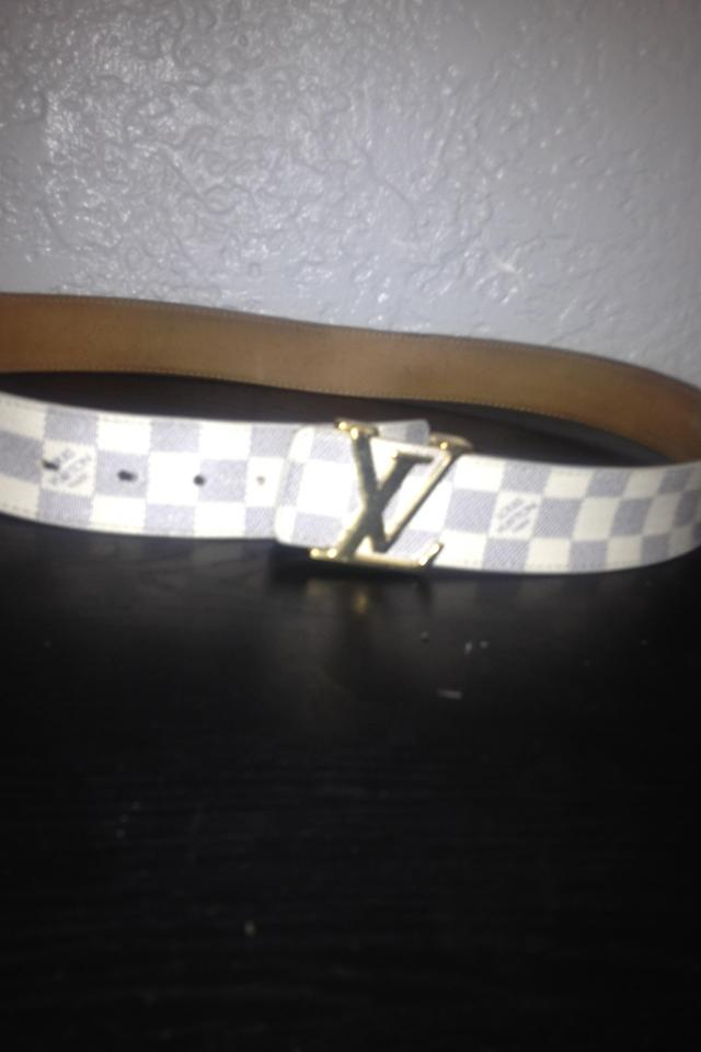 Authentic Louis Vuitton Damier Azur Belt Photo