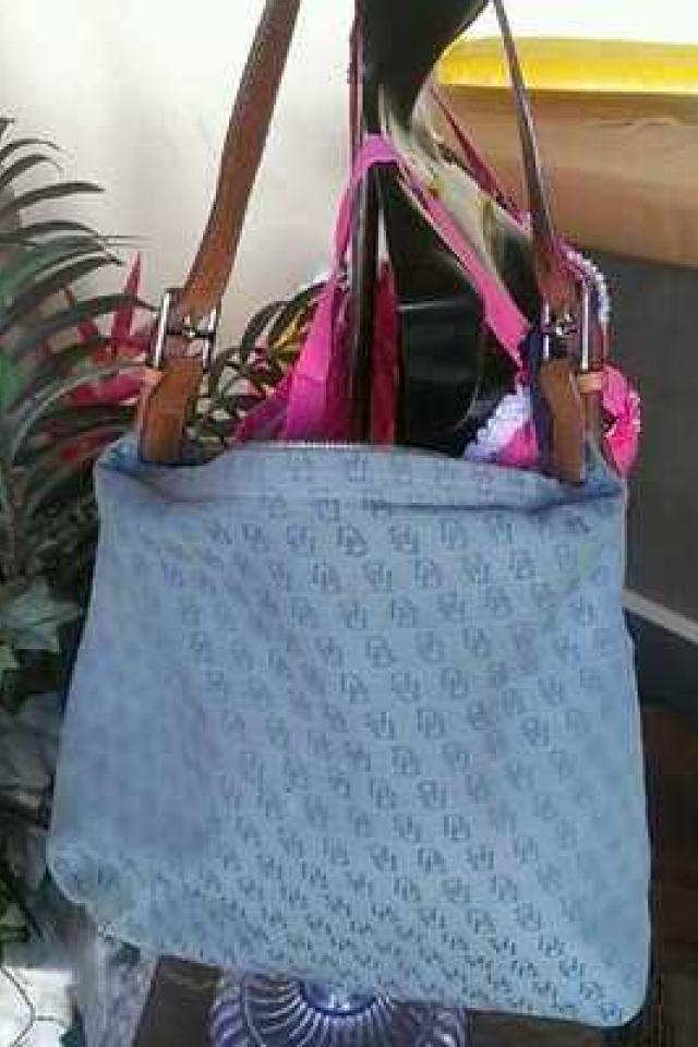 ~DOONEY & BOURKE BLUE FASHION HANDBAG PURSE Large Photo