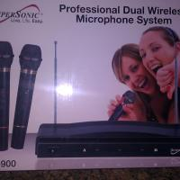 SUPERSONIC Professional Dual Wireless Microphone System SC 900-NIB Photo