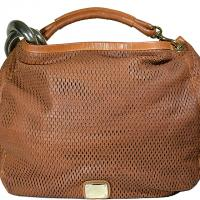 Jimmy Choo - Perforated Leather Handbag - Tan Photo