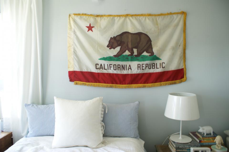 Vintage Schoolhouse California Flag Large Photo