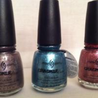 Set of 3 China Glaze Crackle Glaze brand new with tags Photo