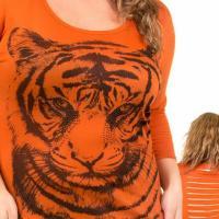 Sheared Tiger Print Photo