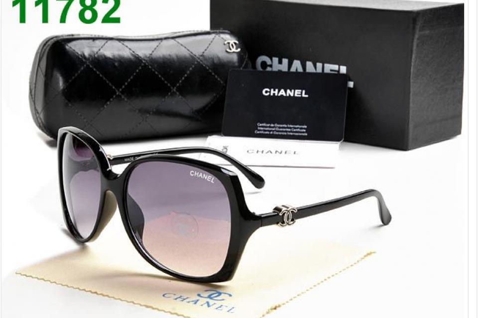 New Designer Classic Chanel Logo Sunglasses Women's Large ...