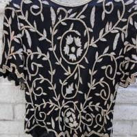 Vintage Beaded & Jagged Edge Top Photo