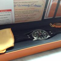 Sturhling Black Leather Watch Photo