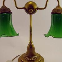 Vintage Banker's Desk Lamp--Green Shades--Beautiful!! Photo