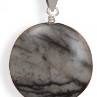 Black and White Jasper Pendant Photo