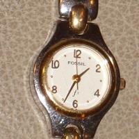 Women's Two-Toned Fossil Bracelet Watch w/ White Face Photo